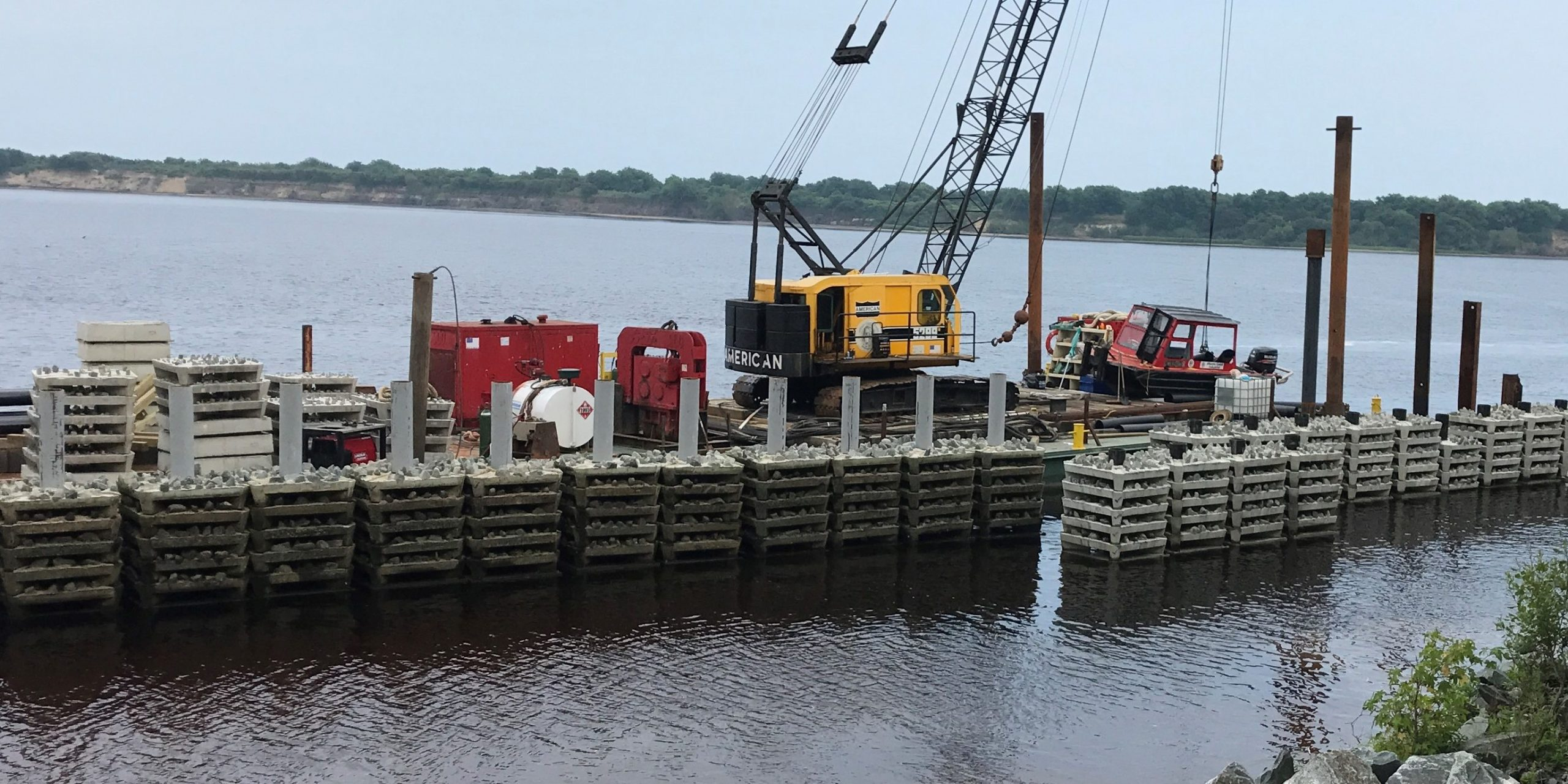 Phase 2 of the Brunswick Town/ Fort Anderson shoreline stabilization