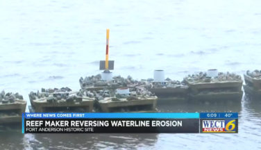 Fort Anderson historic site rebuilding lost waterfront through environmentally friendly technology